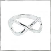 Anel com o símbolo do infinito - Prata 925