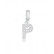Berloque Letras Com Zircônias - Prata 925