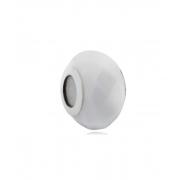 Berloque Murano Facetado Branco - Prata 925