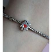 Berloque Robozinho do Amor - Prata 925