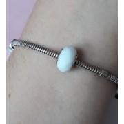 Berloque Separador Branco - Prata 925
