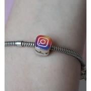 Berloque Separador Instagram - Prata 925