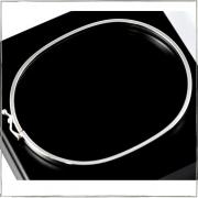 Bracelete fio quadrado 3mm - Prata 925