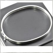 Bracelete fio quadrado 5mm - Prata 925