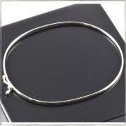 Bracelete meia cana fio fino 2mm - Prata 925