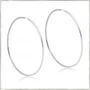 Brinco argola fio redondo 7,2cm - Prata 925