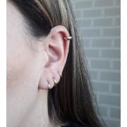 Brinco Argolinha Mini para 2º Furo ou Cartilagem - Banho de Ouro