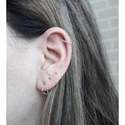 Brinco Cartilagem Triangulo - Prata 925