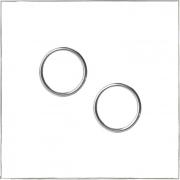 Brinco argola frontal círculo vazado - Prata 925