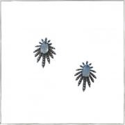 Brinco aranha com pedra azul - Prata 925