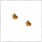 Brinco coração mini para 2º Furo -  Banho de Ouro 18k