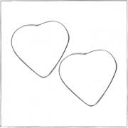 Brinco argola coração grande - Prata 925