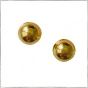 Brinco de bolinha grande - banho de ouro 18k