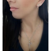 Pingente Crucifixo Fé Grande - Prata 925