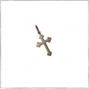 Pingente crucifixo trabalhado pequeno - Prata 925