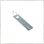 Pingente placa escrito love - Prata 925