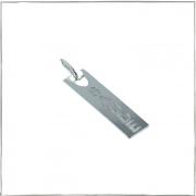 Pingente placa escrito saúde - Prata 925