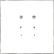 Brinco trio de mini bolinhas - Prata 925