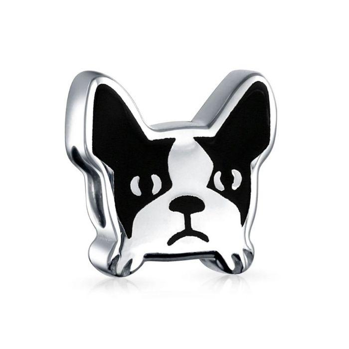 Berloque bulldog francês - Prata 925
