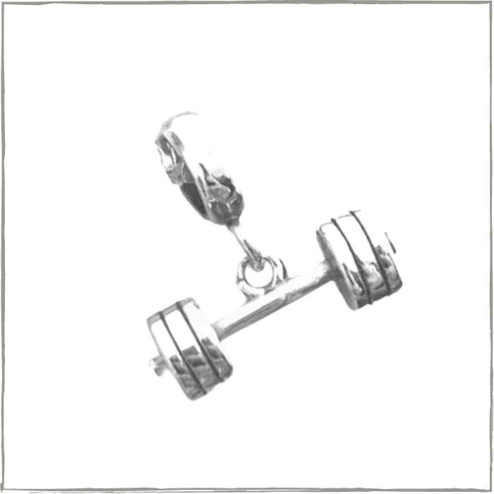 Berloque halter I I - Prata 925