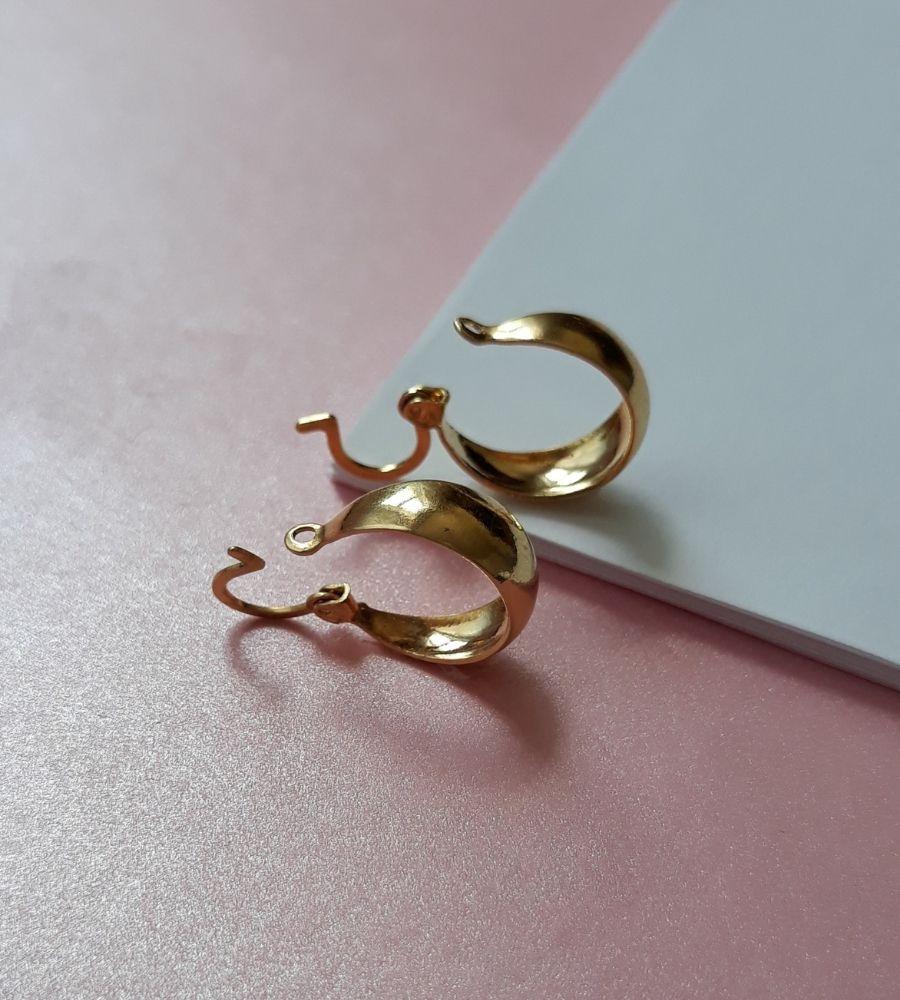 Brinco Argolinha Clássica - Banho de Ouro