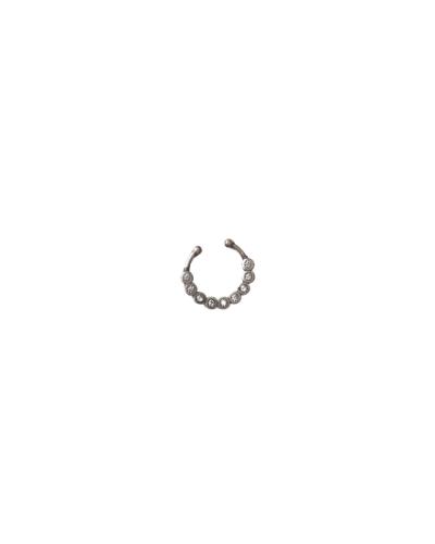 Brinco Cartilagem 9 Pedras - Prata 925