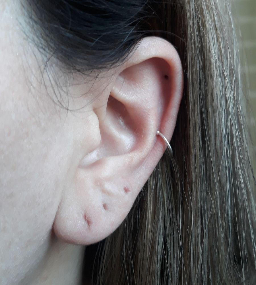 Brinco Cartilagem de Pressão - Prata 925