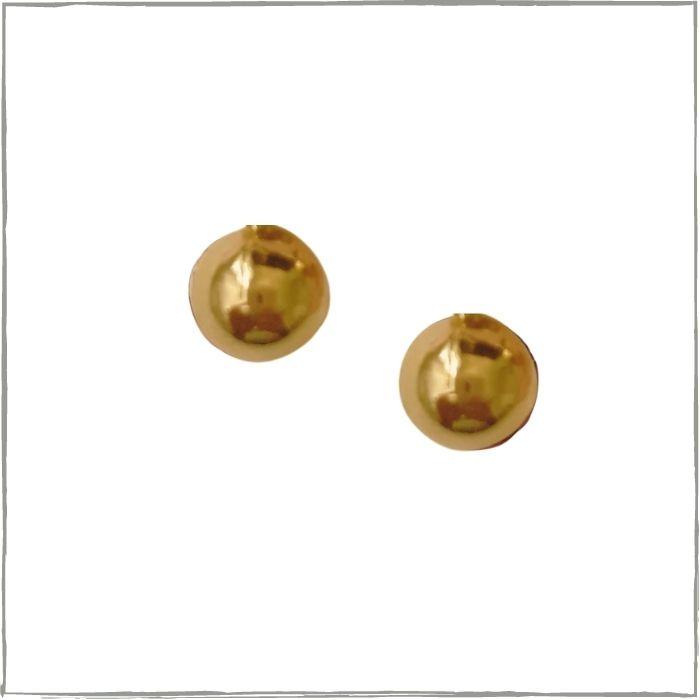 Brinco de bolinha pequeno  - banho de ouro 18k