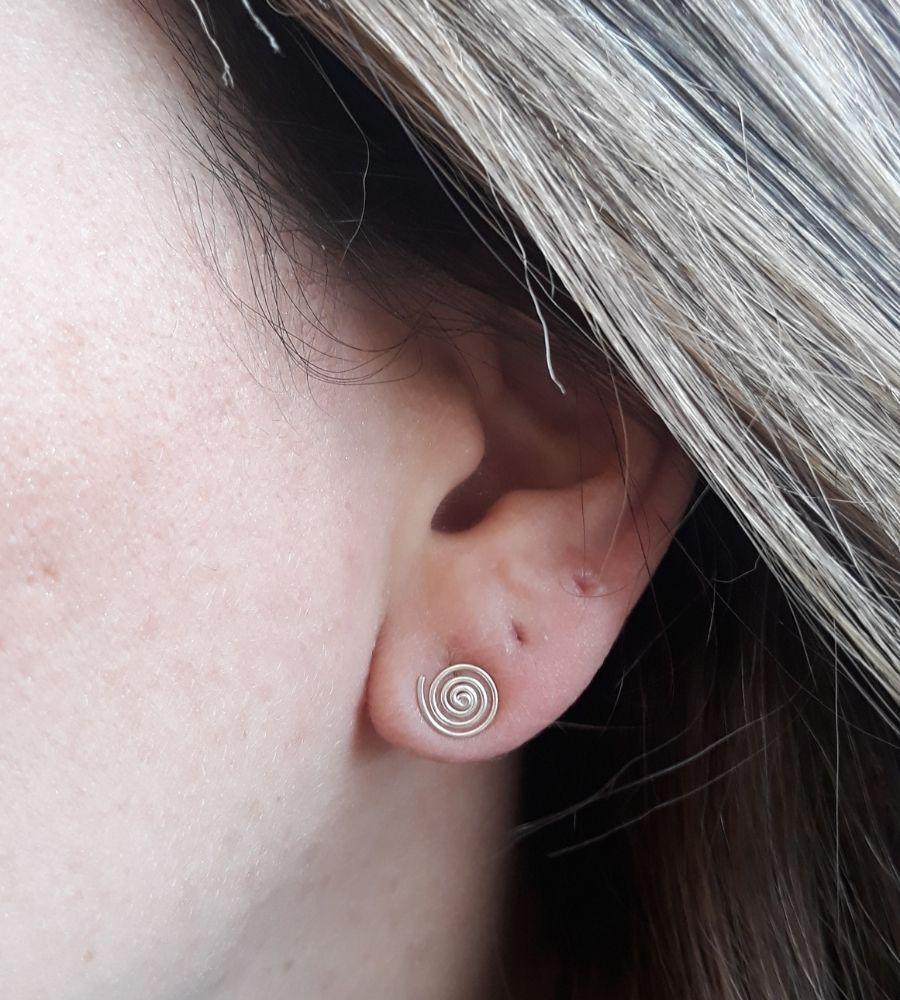 Brinco Espiral Grande - Prata 925