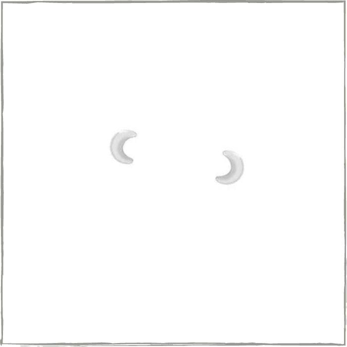 Brinco lua para segundo furo  - Prata 925