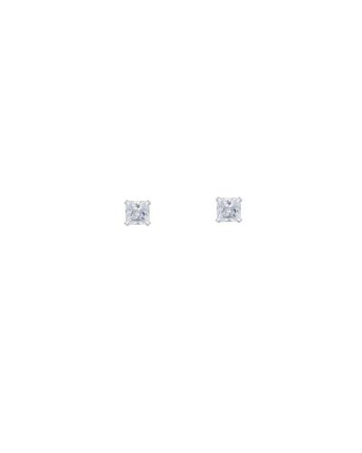 Brinco Ponto de Luz Quadrado Pequeno - Prata 925