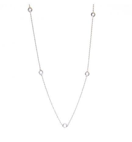 Colar Tiffany Inspired 58cm - Prata 925