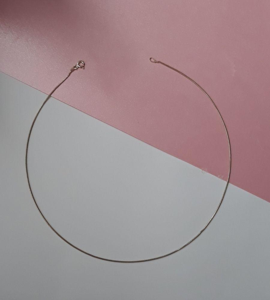 Corrente Rabo de Rato 45cm - Prata 925