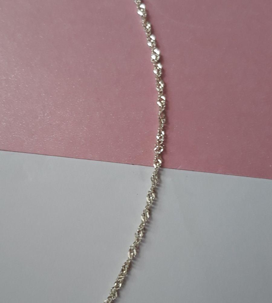 Corrente Singapura 45cm - Prata 925