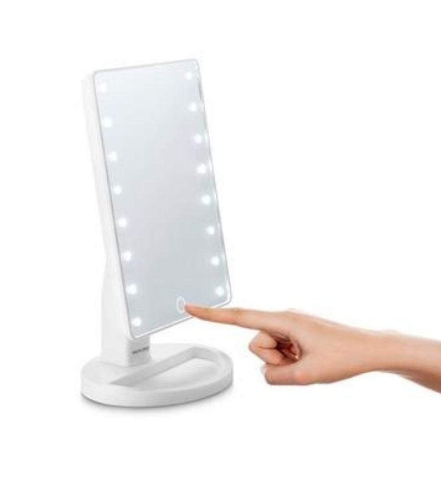 Espelho de Mesa Led Plastico Branco
