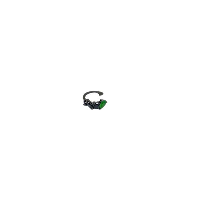 Piercing Fake Ródio Negro Folheado Com Zircônia
