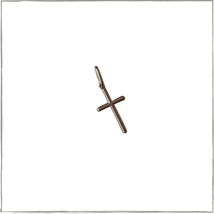 Pingente crucifixo pequeno - Prata 925