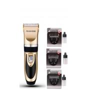 Máquina de tosa A6S Semi Profissional BIVOLT + Laminas 3mm, 6mm e 9mm