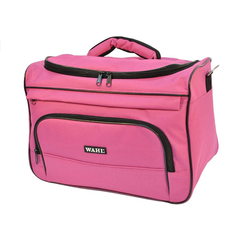 Bolsa profissional para trasporte de acessórios com estampa rosa