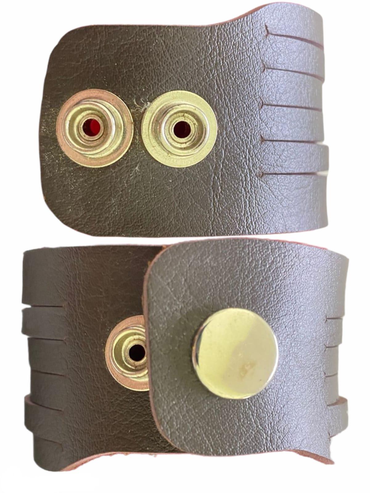 Braceletes de couro Tesoura Prata