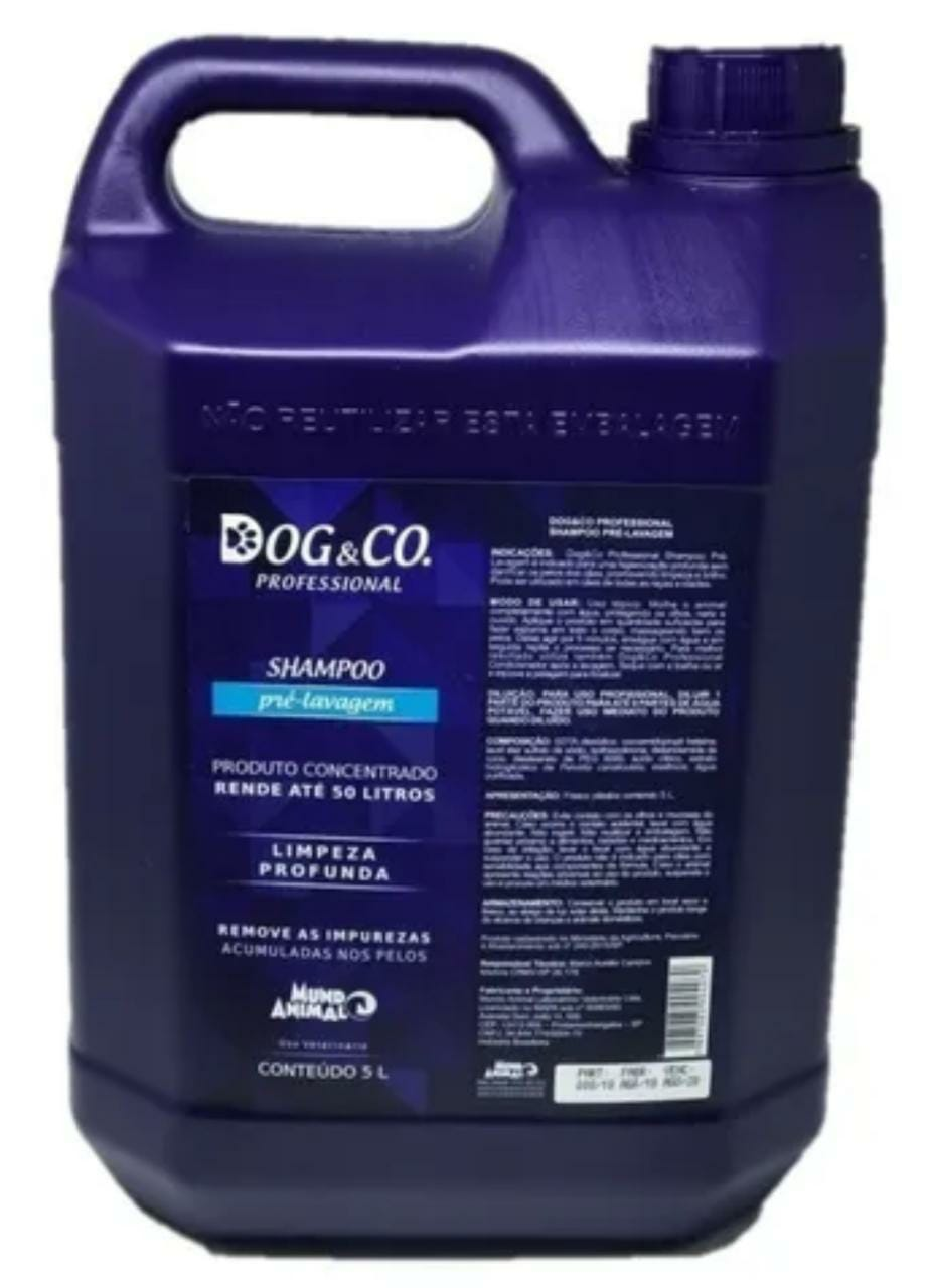 Dog & Co Shampoo Pré-lavagem Limpeza Profunda 5L