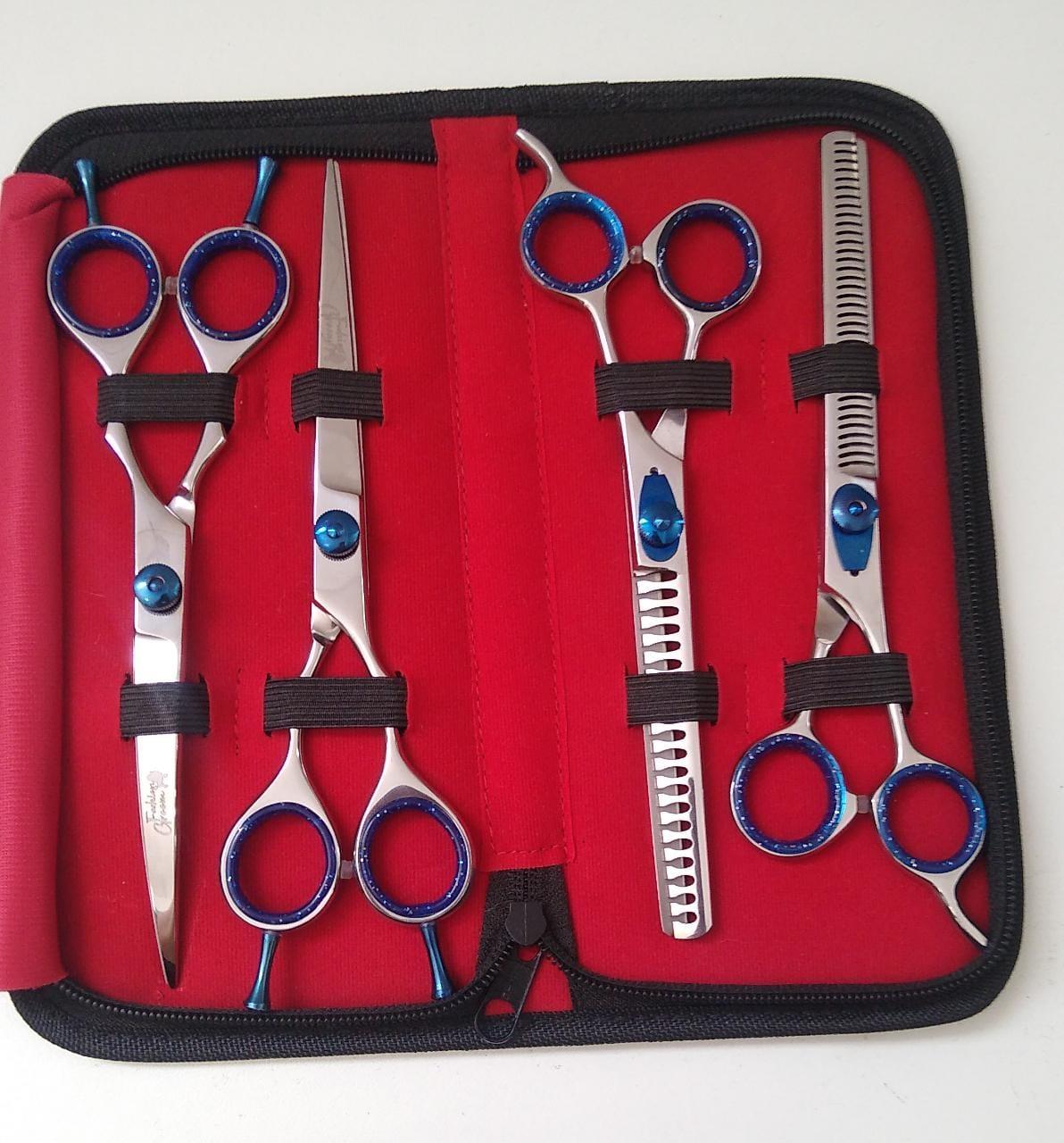 Kit 4 Tesouras Fashion groom 7.0''
