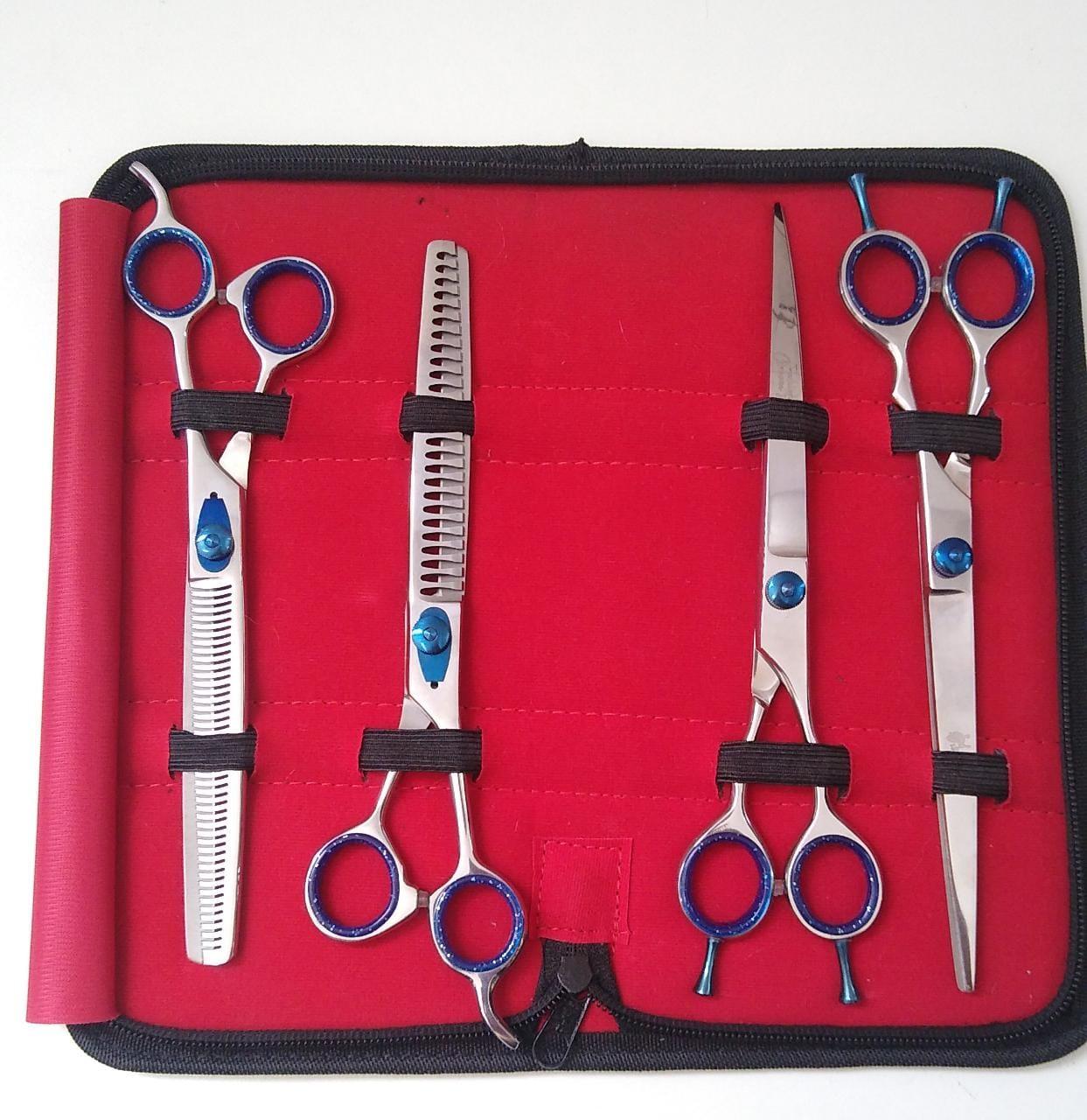 Kit 4 Tesouras Fashion groom 9.0''