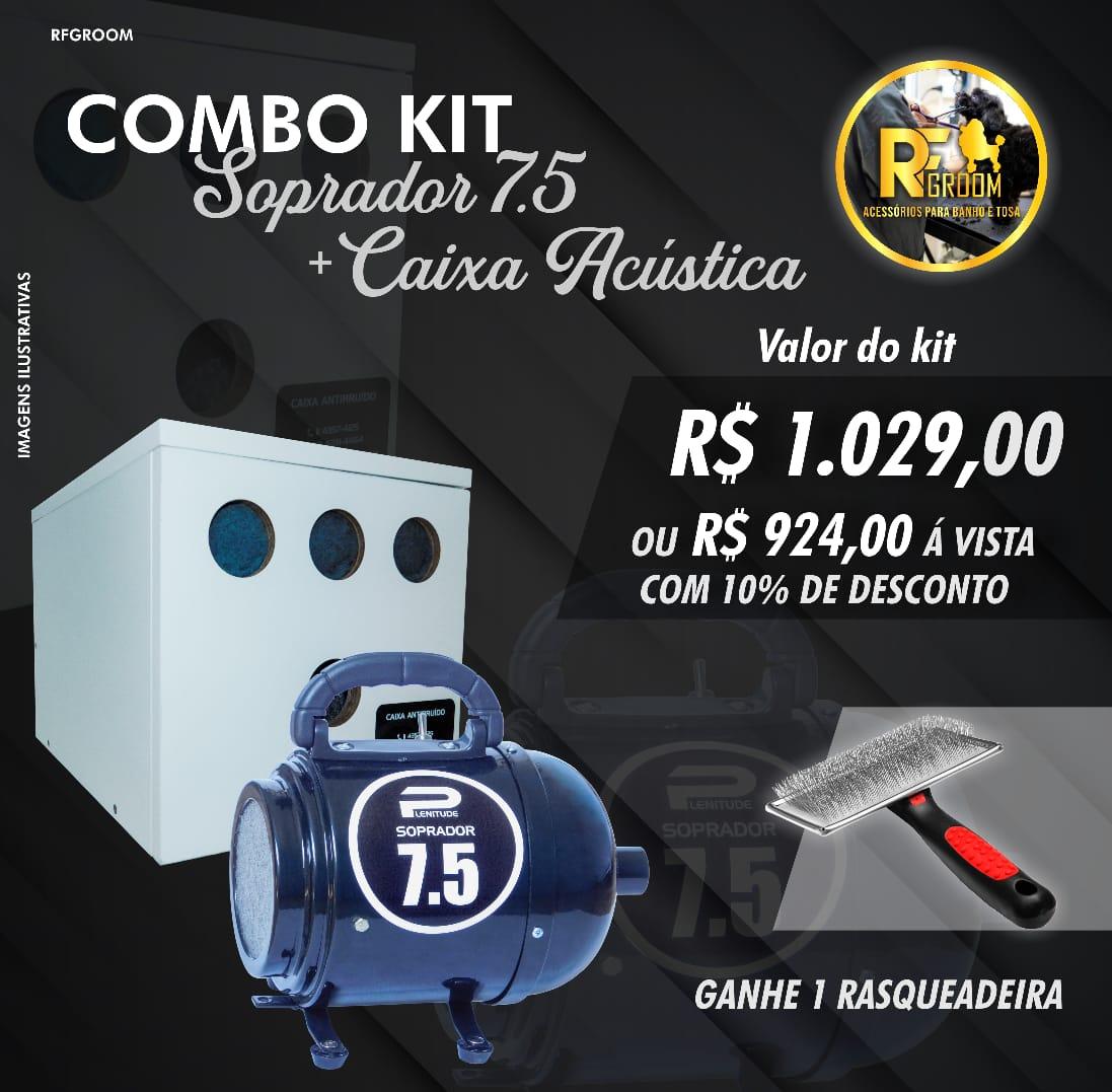 Kit Soprador 7.5 + Caixa Acústica