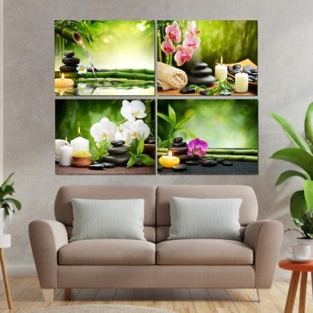 Quadros Decorativos 4 Telas - Feng Shui - 60x40cm