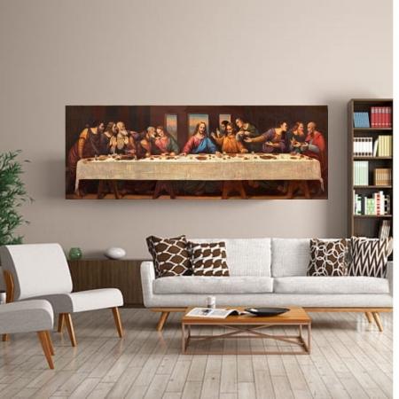 Quadro para Sala - A Santa Ceia - 140x50cm
