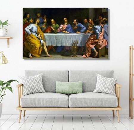 Quadro Para Sala - A Santa Ceia de Jesus - 100x60