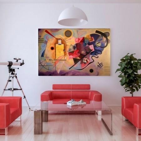 Quadro Decorativo - Abstrato - Artista Wassily Kandinsky - 110x70cm