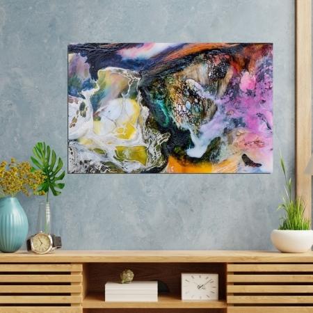 Quadro Decorativo - Abstrato Colorido - 110x70cm