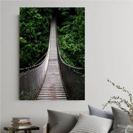 Quadro Decorativo - Ponte na Floresta - 110x70cm